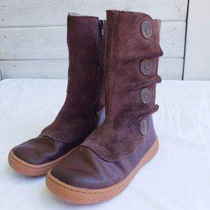 Livie & Luca Girls' Brown Suede Tiempo Boots